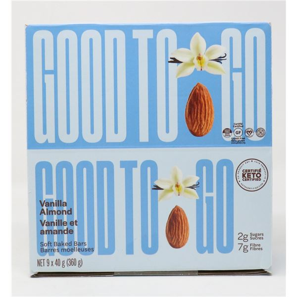 CASE OF GOOD TO GO VANILLA ALMOND SOFT BAKED BARS