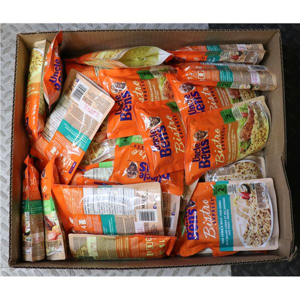BOX LOT OF UNCLE BENS RICE