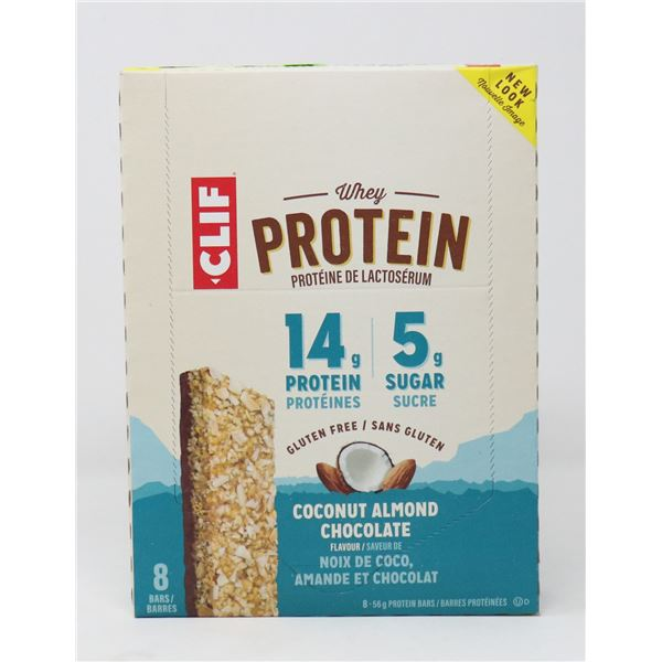 CASE OF CLIF COCONUT ALMOND CHOCOLATE WHEY