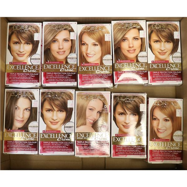 FLAT LOT OF LOREAL EXCELLENCE HAIR COLOR
