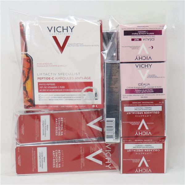 BAG LOT OF ASSORTED VICHY PRODUCTS