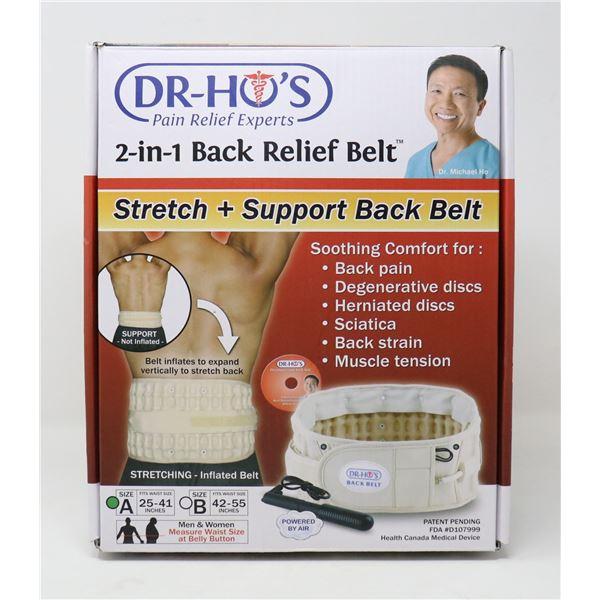 DR-HO'S 2-IN-1 BACK RELIEF BELT