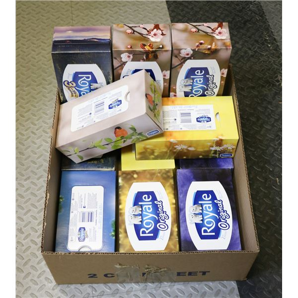 12 BOXES OF ROYALE TISSUE PAPER