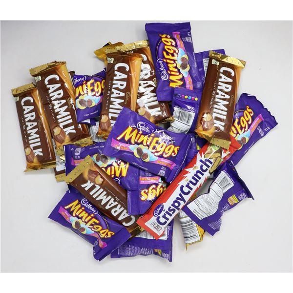 BAG LOT OF BRAND NAME CHOCOLATE