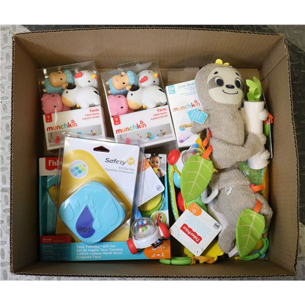 FLAT LOT OF ASSORTED BABY TOYS