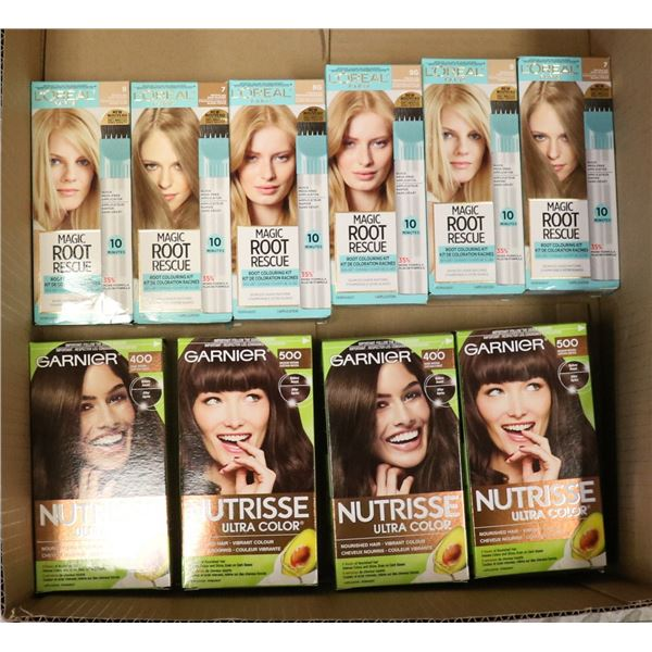 FLAT LOT OF ASSORTED HAIR COLOURING