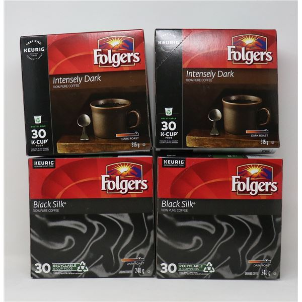 FLAT LOT OF FOLGERS COFFEE FOR KEURIG
