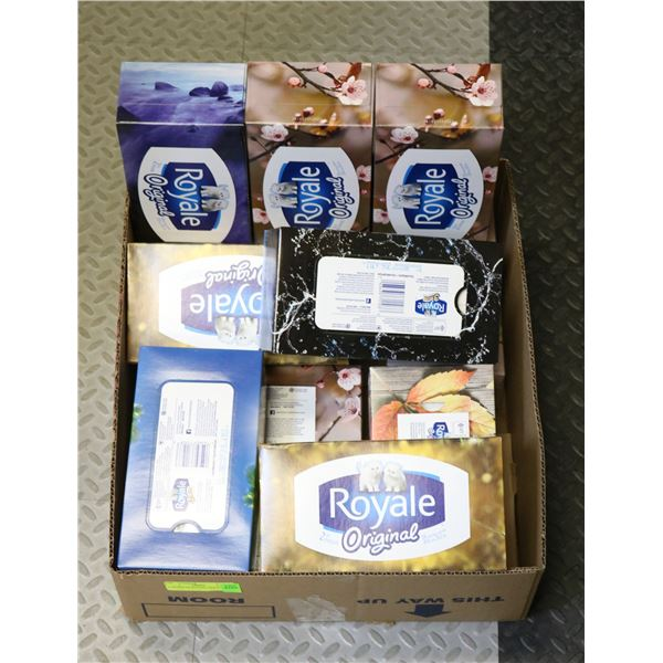 11 BOXES OF ROYALE TISSUE PAPER