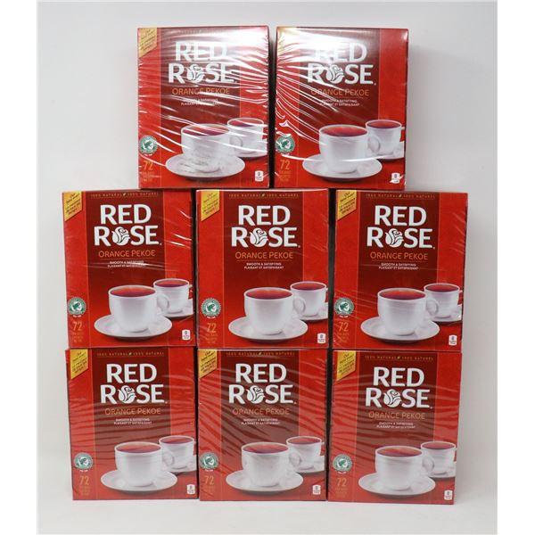 8 BOXES OF RED ROSE ORANGE PEKOE TEA