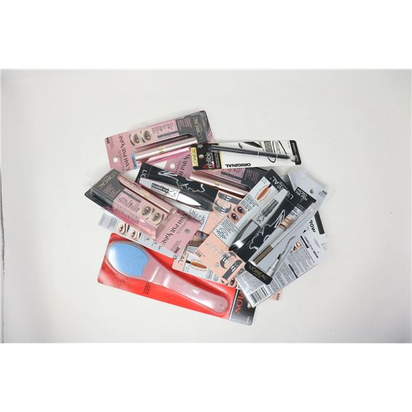BAG LOT OF ASSORTED BEAUTY PRODUCTS