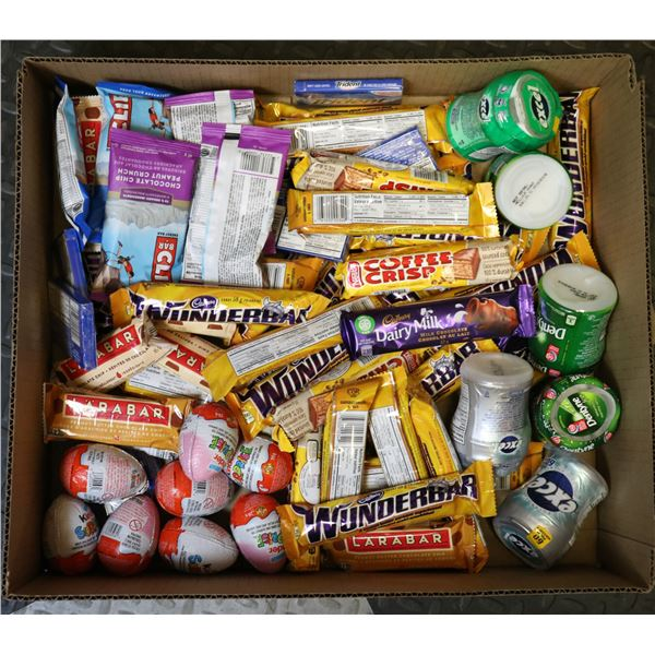 FLAT LOT OF PAST BB BRAND NAME CHOCOLATE & GUM