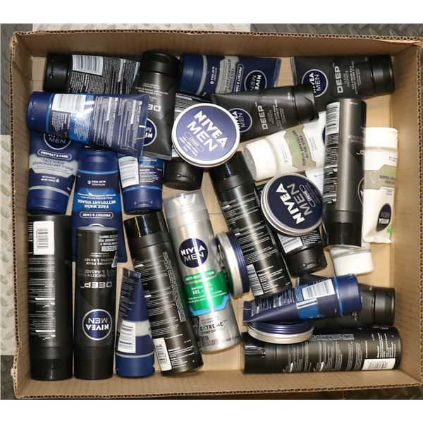 FLAT LOT OF NIVEA PRODUCTS FOR MEN