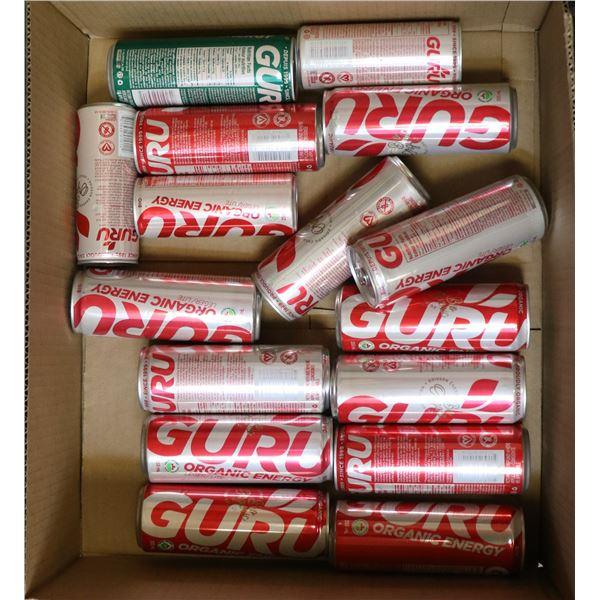 FLAT LOT OF GURU ORGANIC ENERGY DRINKS