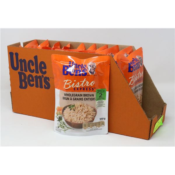 TRAY LOT OF UNCLE BENS WHOLE GRAIN BROWN RICE