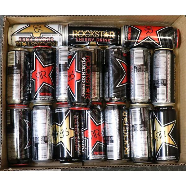 FLAT OF ROCKSTAR ENERGY DRINKS