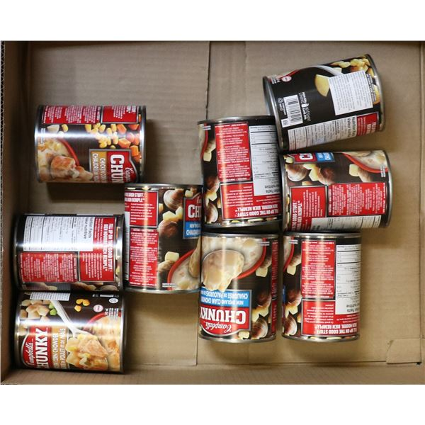 FLAT LOT OF CAMPBELLS CHUNKY CANNED FOOD