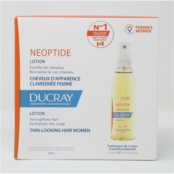 DUCRAY NEOPTIDE HAIR LOTION 3 X 30ML