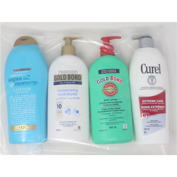 LOT OF BRAND NAME LOTIONS & MOISTURIZERS