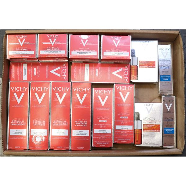 FLAT LOT OF ASSORTED VICHY PRODUCTS
