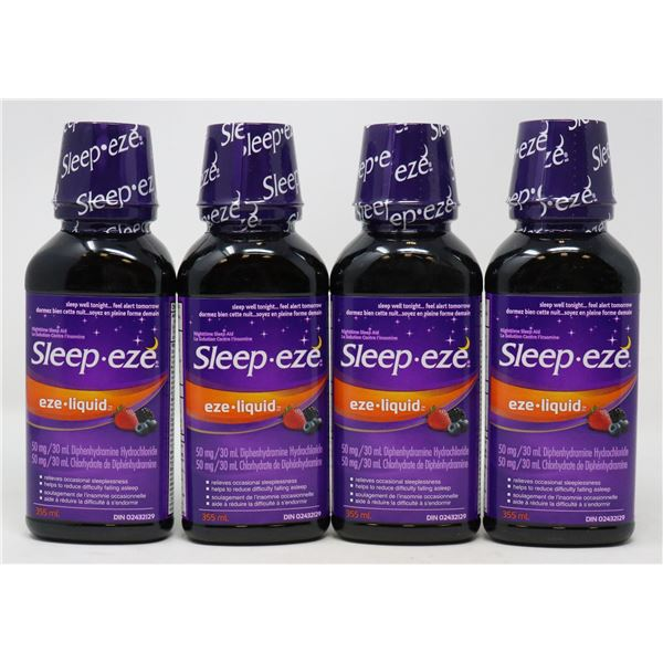 4 BOTTLES OF BRAND NAME SLEEP AID PRODUCTS