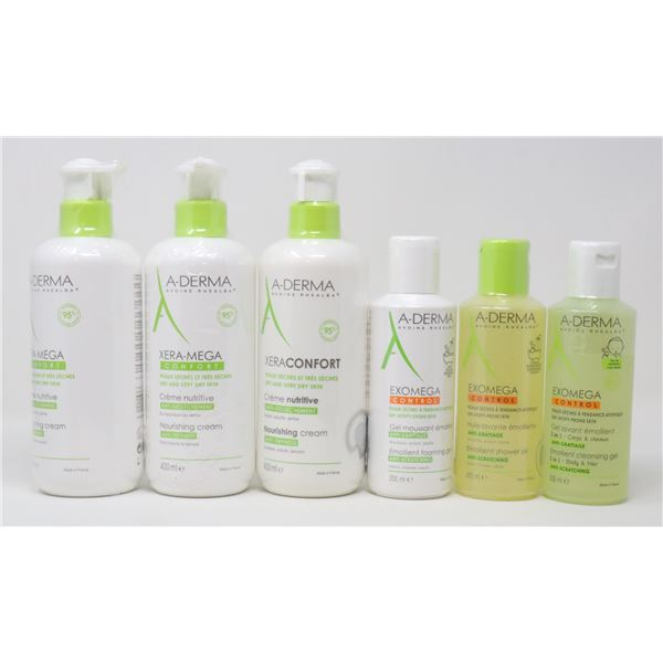 BAG LOT OF A-DERMA PRODUCTS