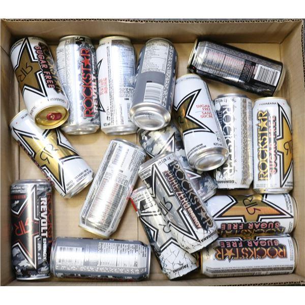 FLAT LOT OF ROCKSTAR ENERGY DRINKS