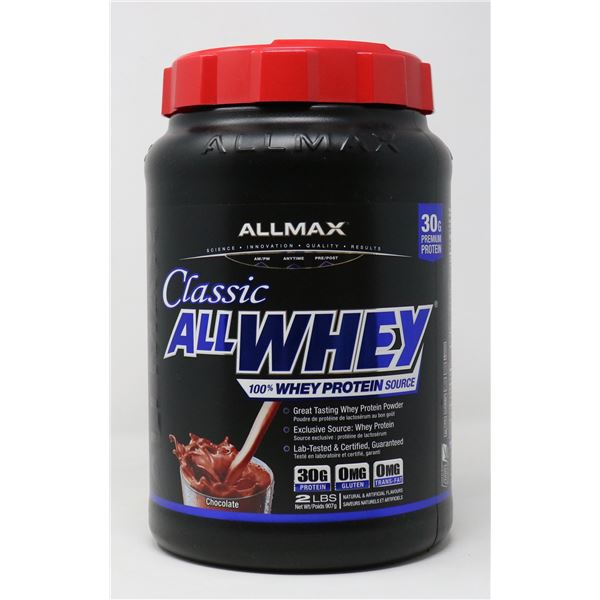 ALLMAX CLASSIC ALL WHEY 100% WHEY PROTEIN 2LBS