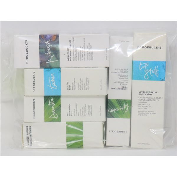 LOT OF ASSORTED DRROEBUCKS SKIN CARE PRODUCTS