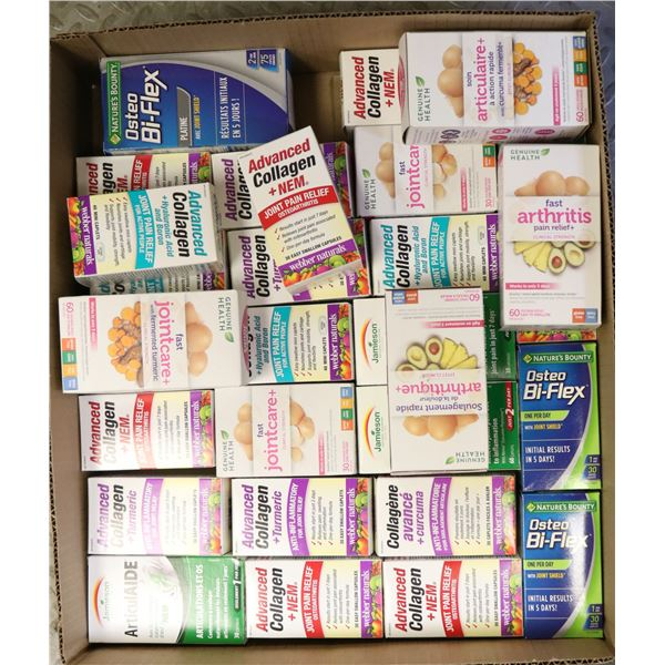 FLAT LOT OF ASSORTED JOINT PAIN RELIEF MEDICINE