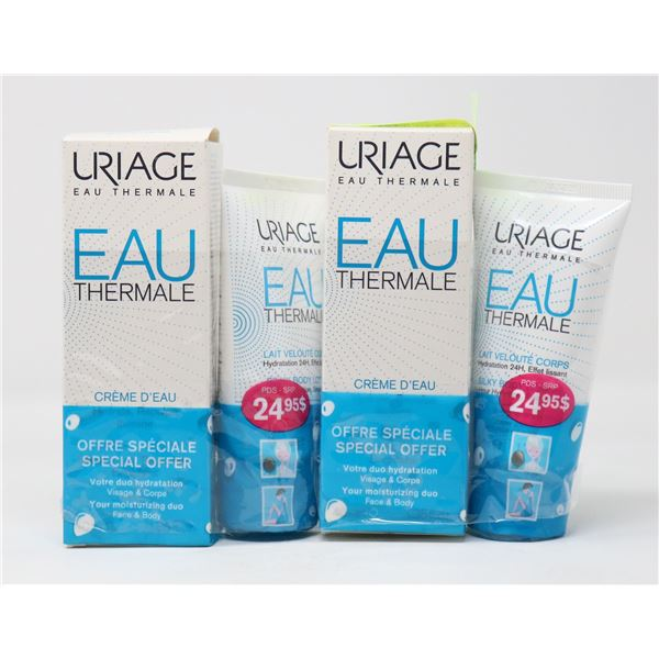 LOT OF URIAGE EAU THERMALE HYDRATION CREAM