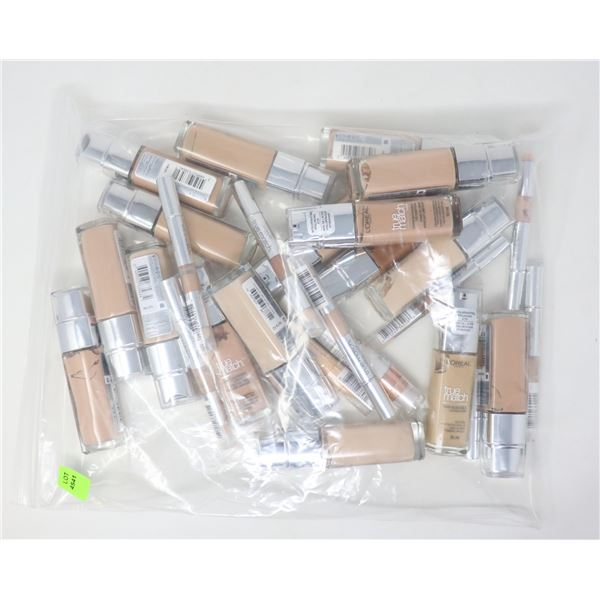 BAG LOT OF LOREAL TRUE MATCH BEAUTY PRODUCTS