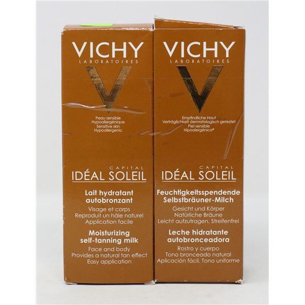 2 BOXES OF VICHY MOISTURIZING SELF-TANNING MILK