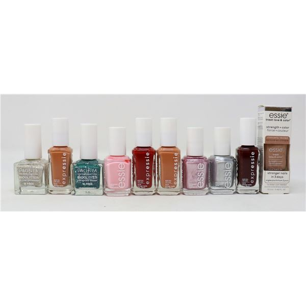 LOT OF ASSORTED NAIL COLOUR PRODUCTS
