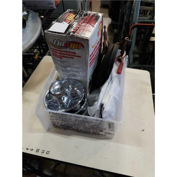 BOX OF NEW VEHICLE ACCESORIES