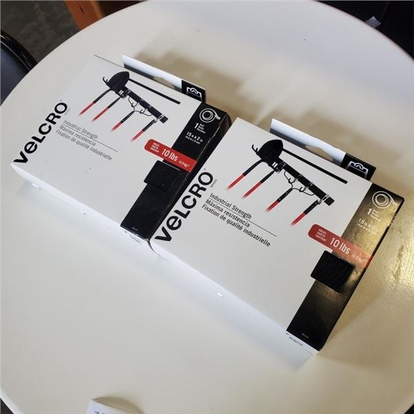 """2 New VelcroBrand Combo Industrial Strips Pack - 2"""" x 15', Black Retail $47 each"""