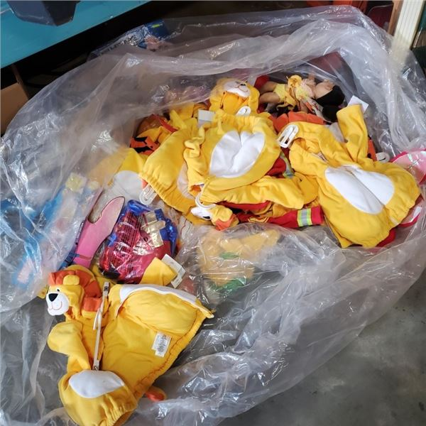 LOT OF INFANT COSTUME JACKETS AND DOG COSTUMES
