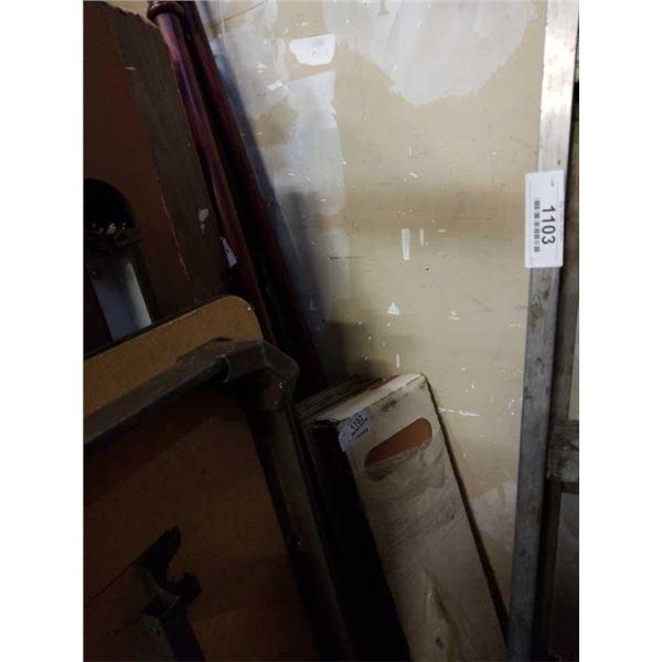 Laminate flooring and 2 poles