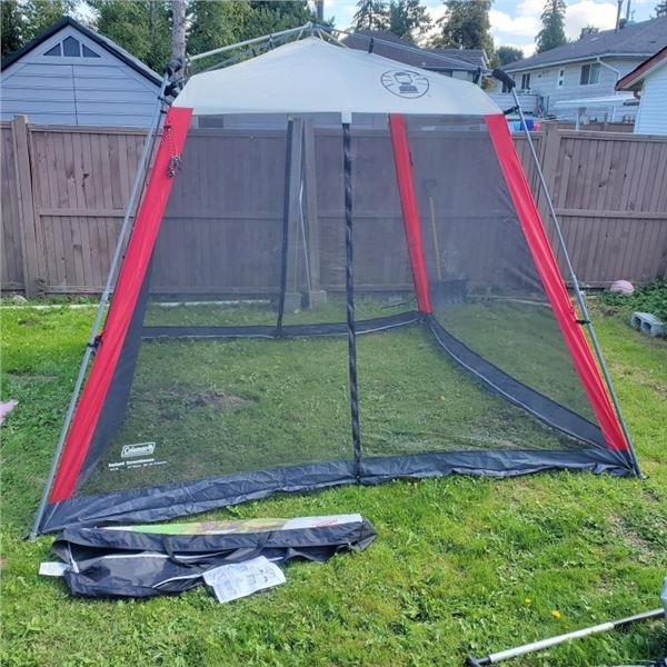 COLEMAN INSTANT 10FT X 10FT POPUP SCREEN HOUSE