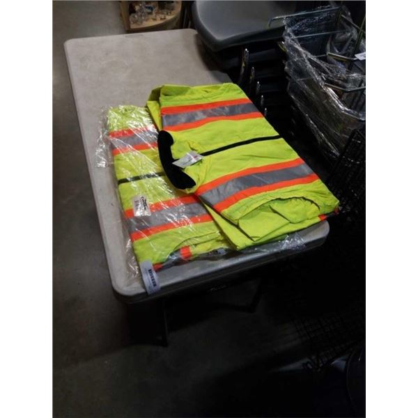 2 NEW HIGH VIS CONDOR JACKETS SIZE LARGE