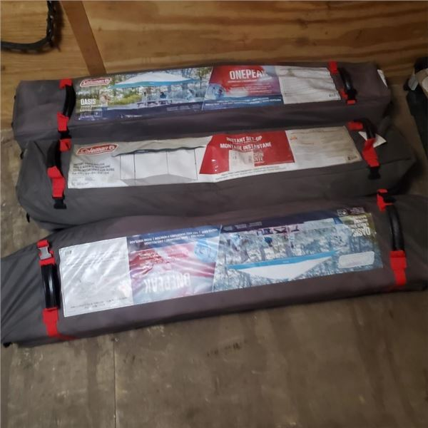 3 DEFECTIVE STORE RETURN CANOPIES PARTS ONLY