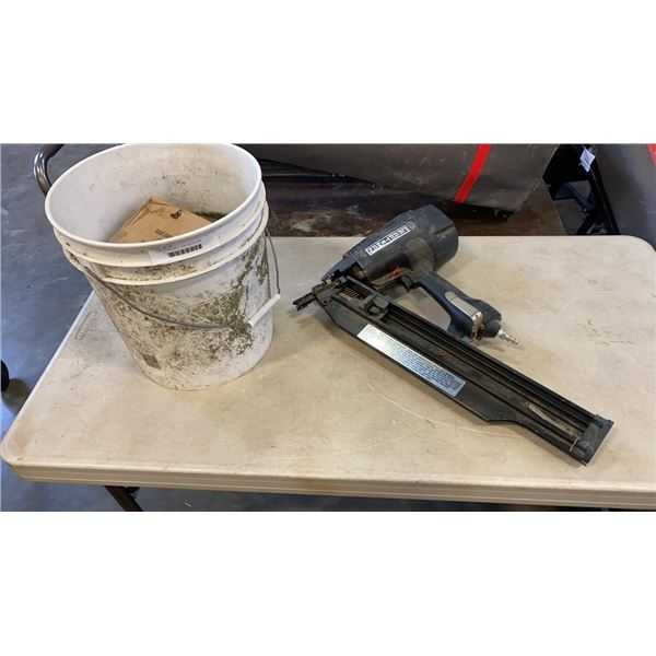 """CRAFTSMAN 351.711780 NAIL GUN TESTED AND WORKING WITH BUCKET OF 3 1/4"""" ROUND HEAD NAILS"""