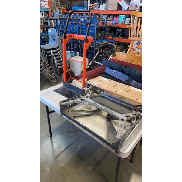 BLACK AND DECKER WORKMATE AND CONVERTABLE DOLLY