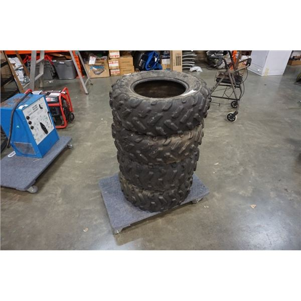 4 DUNLOP ATV TIRES 10-12 AND 8-12