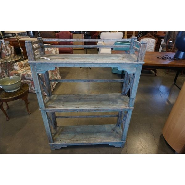 INDIAN RUSTIC HARDWOOD 3 TIER SHLEF FROM INDIA