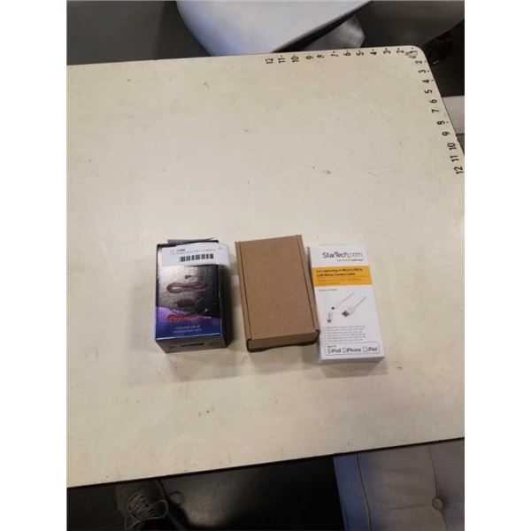 PLANTRONICS EHS CABLE, STARTECH APPLE LIGHTNING USB CHARGING CABLE, AND NEXTBASE DASH CAM HARDWARE K