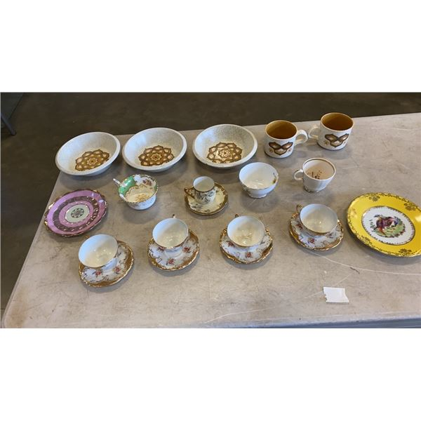 LOT OF ROYAL CHINA, WORCESTER, HALSEY, STANDARD AND MORE