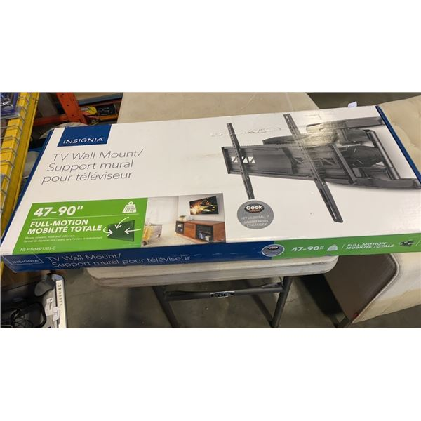 NEW OVERSTOCK INSIGNIA 47-80 INCH FULL MOTION TV WALL MOUNT
