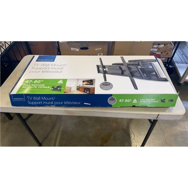 """AS NEW INSIGNIA  47""""-80"""" FULL MOTION TV WALL MOUNT"""