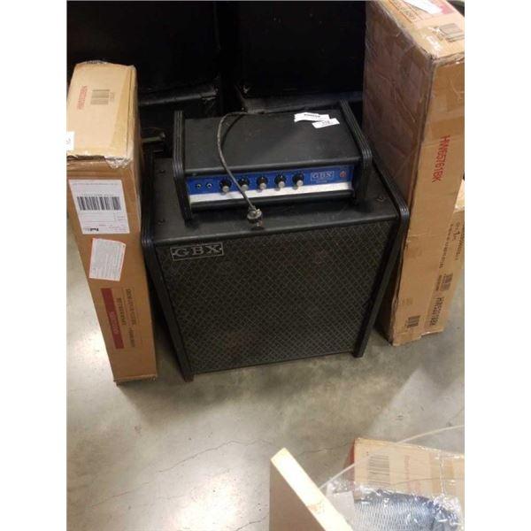 GBX GUITAR AMP WITH 4-10  SPEAKERS IN SPEAKER BOX