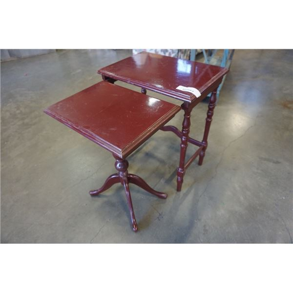 2 NESTING TABLES 4 LEG AND PEDESTLE